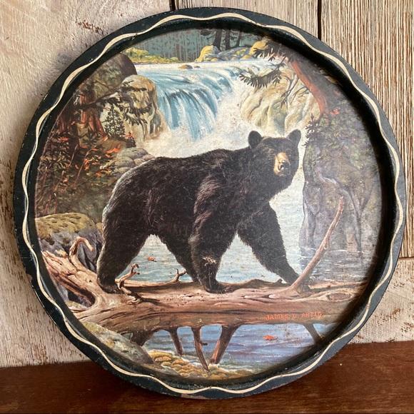 Vintage Other - Vintage Bear Over Water Decorative Serving Tray